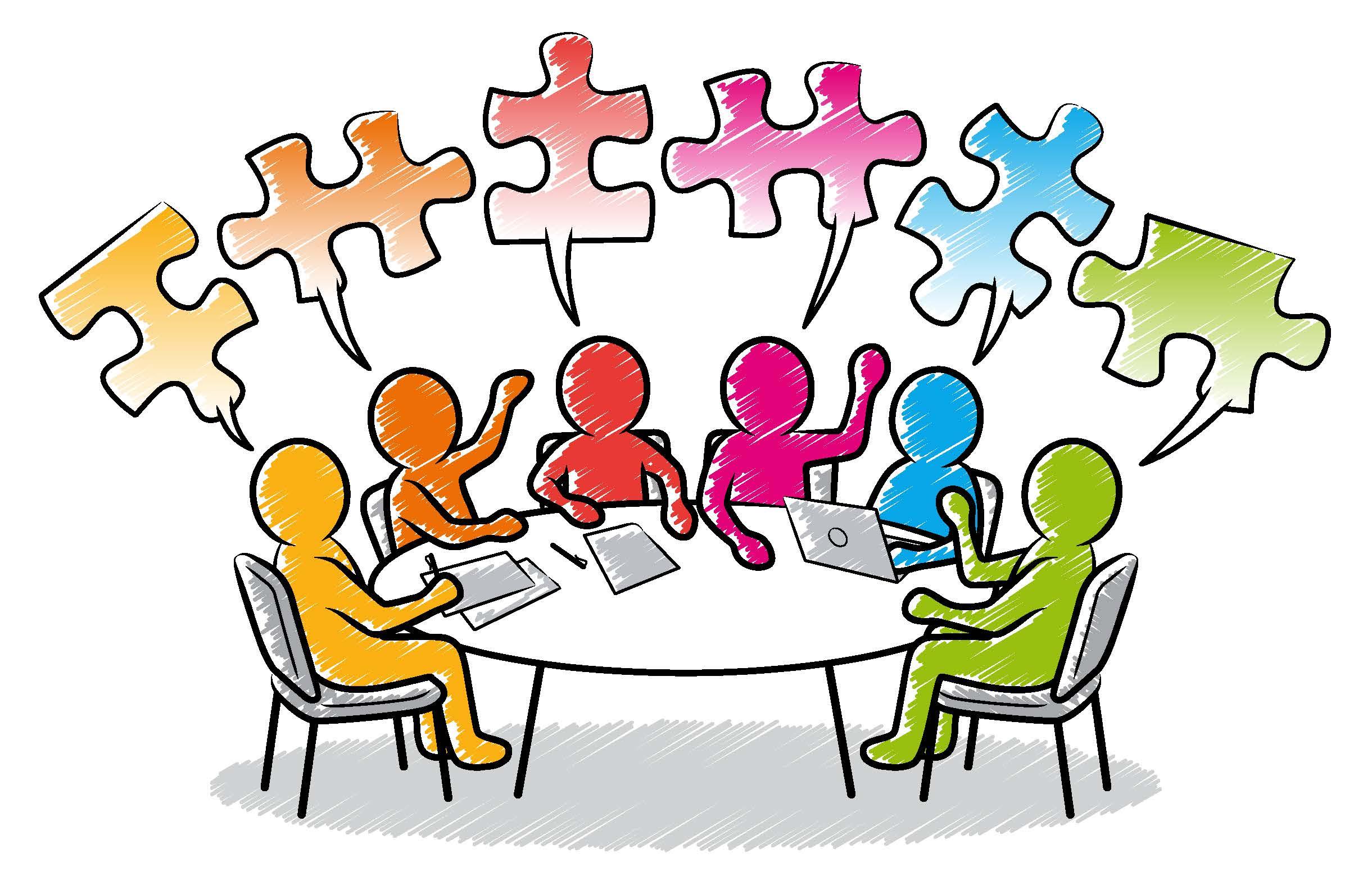 Teamarbeit - jeder hat ein Puzzleteil